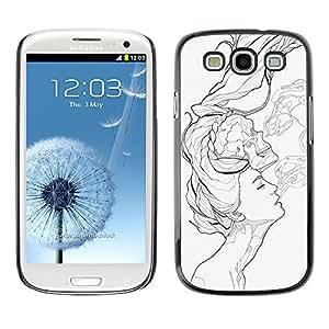 EJOY---Cubierta de la caja de protección la piel dura para el ** Samsung Galaxy S3 ** --Arte pop negro
