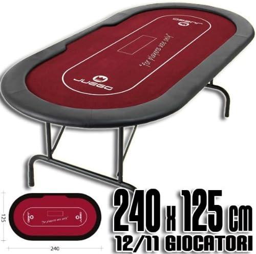 Mesa de Poker con patas plegables 240x125 cm: Amazon.es: Juguetes ...