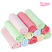 Maypluss Organic Bamboo Washcloths Ultra Soft & Absorbent Towels for Sensitiv...