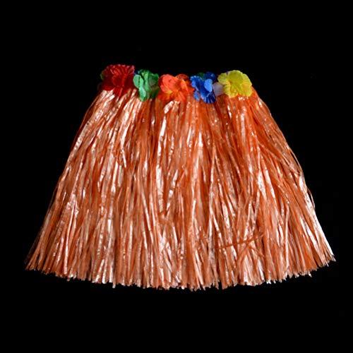 Party DIY Decorations - Colorful 1pc Plastic Fibers Children Grass Skirts Hula Skirt Hawaiian Costumes 30cm Girl Dress Up - Kits Fire Under Lingerie Masks Officer Little Veterinarian -