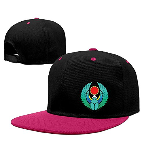 Cool Egyptian Scarab Tattoo Colour Hip-Hop Baseball Caps Pink]()
