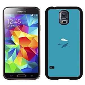 Unique Designed Cover Case For Samsung Galaxy S5 I9600 G900a G900v G900p G900t G900w With Af Rc Plane Minimal Blue Art Illust Cute Phone Case Kimberly Kurzendoerfer