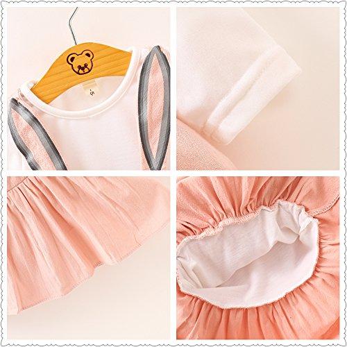 Vestidos De Bebé Niñas, Allskid Otoño Manga Larga Lindo Conejo Vendaje Princesa Rosa Vestido Girls Dress: Amazon.es: Ropa y accesorios