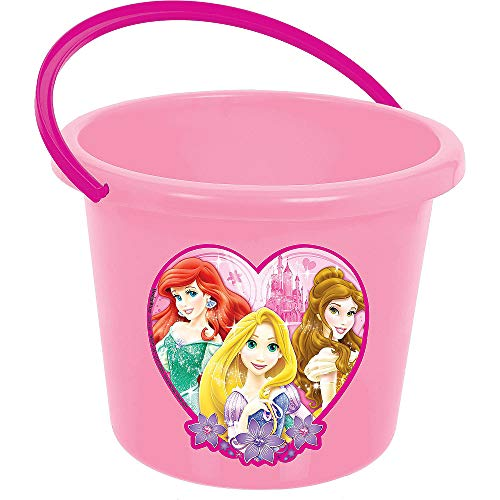 Bucket Princess Set (HollyDel (2x Pcs) Disney Princess Treat Bucket, Easter Theme Garden Party Favors, Easter Eggs Hunt, Easter Goodies Goody, Basket Fillers Stuffers)