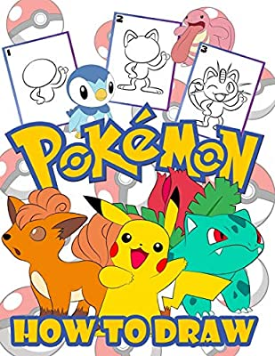 How To Draw Pokemon Easy Step By Step Drawing Guide Pokemon 2 In 1 How To Draw And Pokemon Coloring Book For Adults And Kids For Anyone Who Loves Pokemons Books Htd Color Amazon Sg Books