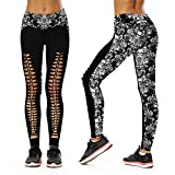 F style New Human Skeleton Printing Yoga Pants Self-Cultivation Lift The Hips Outdoor Sport Bodybuilding Leggings