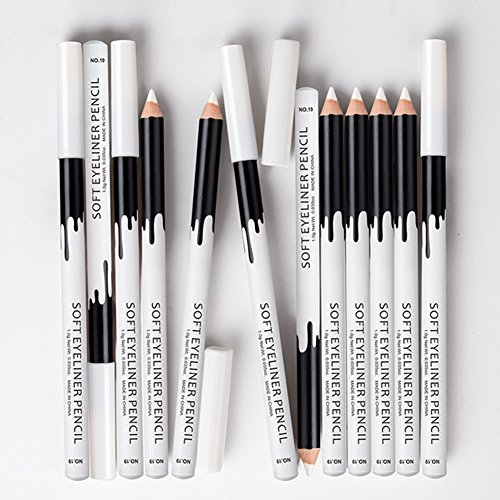 Fashionwu 12pcs/pack Professional Highlighter Eye Liner Pen Soft Strokes Easy to Color Eyeshadow Pencil