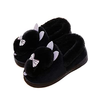 21add3266d RAYDESTINN Womens Warm Slippers Plush Loafers - Winter Indoor Bedroom  Livingroom Thick Slip-On Shoes