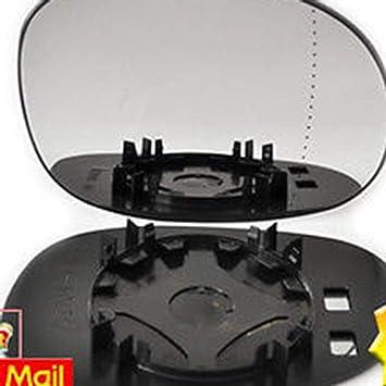 Lado derecho del conductor del vidrio de espejo de la puerta del ala gran angular lateral para CITROEN C3 2002-2010 - Negro: Amazon.es: Coche y moto