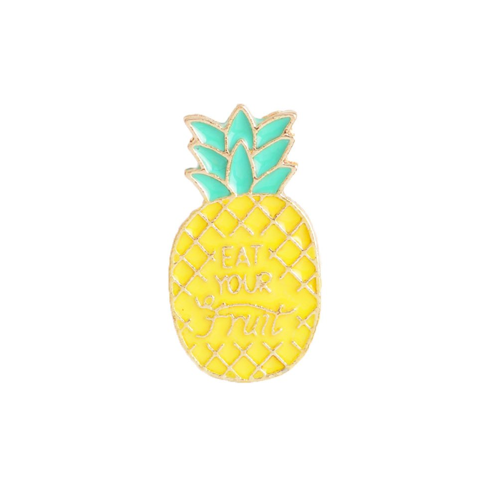 ink2055 Fashion Pineapple Spice Jar Comic Book Brooch Pin Badge Jacket Bag Backpack Badge Clothes Decor - Pineapple