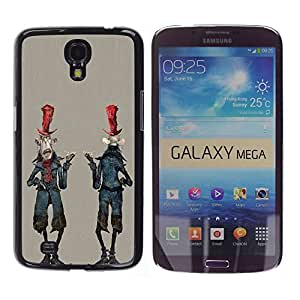 Paccase / SLIM PC / Aliminium Casa Carcasa Funda Case Cover - Alien Cartoon Man Character Zombie Art - Samsung Galaxy Mega 6.3 I9200 SGH-i527