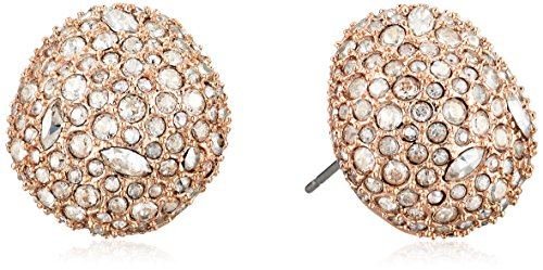 Alexis Bittar Organic Pod Shape Crystal Encrusted Button Post Stud Earrings, Rose Gold, One Size -