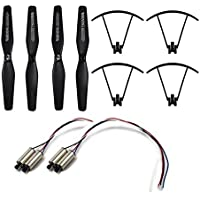 BTG Spare Parts Kit for VISUO XS809 XS809HC XS809HW XS809W Foldable Quadcopter Drone - Propellers Protective Frames and Motors