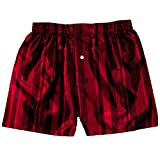 Fire Red Stripes Silk Boxers by Royal Silk - Size M - 33