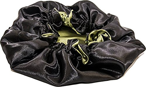 24Inch Reversible Luxuries Satin Hair Bonnet Sleeping Cap Safe For All Hair Types X-Large YELLOW AND BLACK# GaanZaLive36