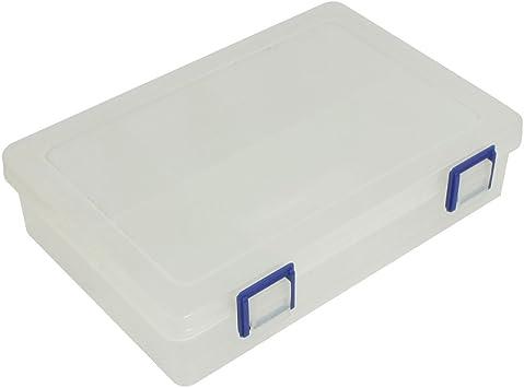sourcing map Plástico 8 Compartimentos Pequeño Componente Almacenamiento Caja Estuche Blanco Claro: Amazon.es: Bricolaje y herramientas