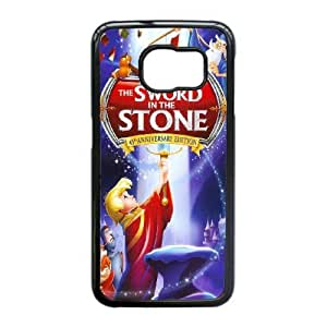 The Sword in the Stone For Samsung Galaxy S6 Edge Cell Phone Case Black ADS076383