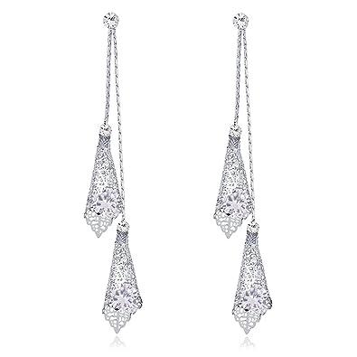 Amazon Com Dangle Earring Drop Earrings Long Earrings Silver