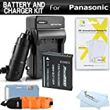 Battery And Charger Kit For Panasonic Lumix DMC-TS4, DMC-TS3 Digital Camera Includes Extended Replacement (1200Mah) DMW-BCF10 Battery + Ac/Dc Rapid Travel Charger + Floating Strap + More