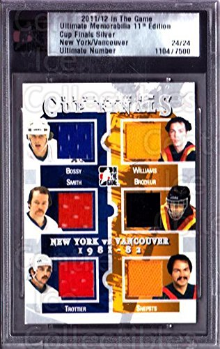 (CI) Mike Bossy, Billy Smith, Bryan Trottier, Tiger Williams, Richard Brodeur, Harold Snepsts Hockey Card 2011-12 ITG Ultimate Memorabilia Cup Finals 2 Mike Bossy, Billy Smith, Bryan Trottier, Tiger Williams, Richard Brodeur, Harold Snepsts
