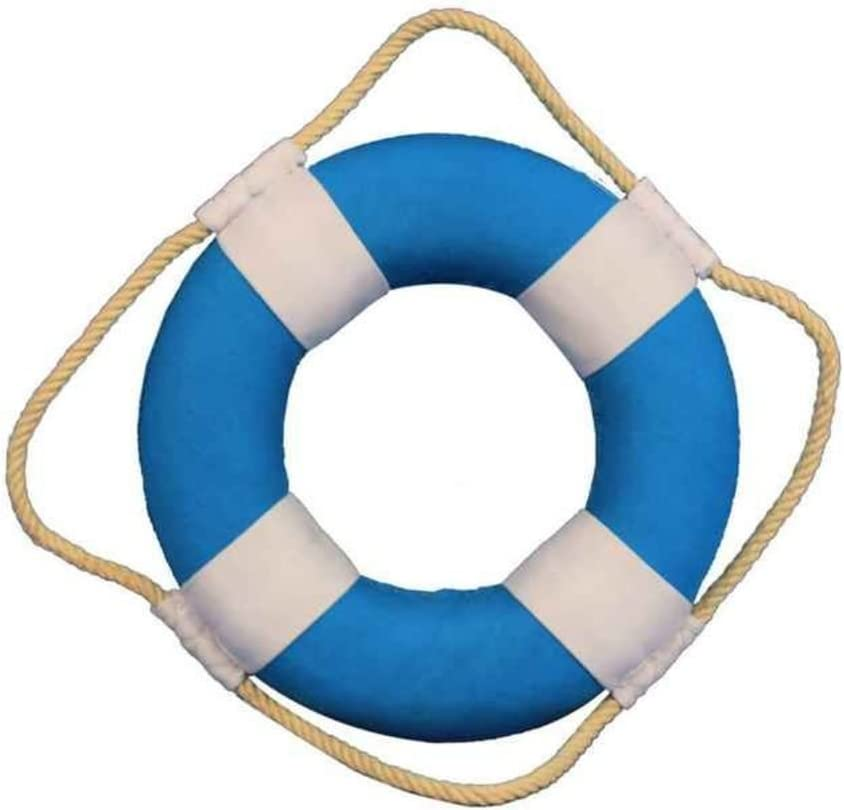 Hampton Nautical Vibrant Decorative Life Ring with White Bands Decoration Beach Home Decorating Ideas, 6
