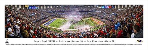 Baltimore Ravens 2000 Super Bowl (Super Bowl 2013 - Baltimore Ravens Champions - Panoramic Print)