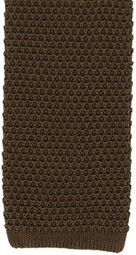 Brown Silk Knitted Tie by Michelsons