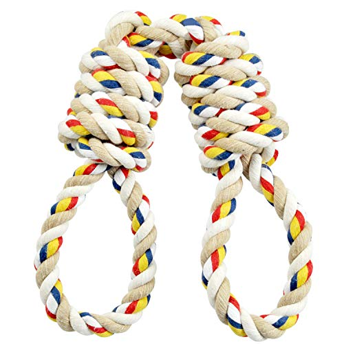 Hinrylife XL Dog Rope Toy for Aggerssive Chewers - 100% Cotton Tough Ropes Toy for Large and Medium Dogs - Tough Tug of War Rope toyl for Chewing and Teething