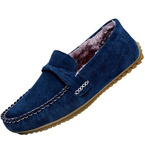 ODEMA - Mocasines de Piel para hombre, color Azul, talla 40