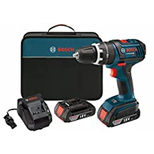Bosch HDS181-02 18-Volt Lithium-Ion 1/2-Inch Compact Tough Hammer Drill Driver with 2 High Capacity Batteries, Charger and Case