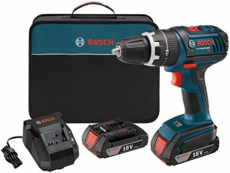 Bosch DDS181-02 18-Volt Lithium-Ion 1 2-Inch Compact Tough Drill Driver Kit with 2 High Capacity Batteries, Charger and Case Discontinued by Manufacturer .