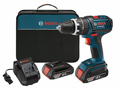 Bosch DDS181-02 18-Volt Lithium-Ion 1/2-Inch Compact Tough Drill/Driver Kit with 2 High Capacity Batteries, Charger and Case (Discontinued by Manufacturer). by Bosch