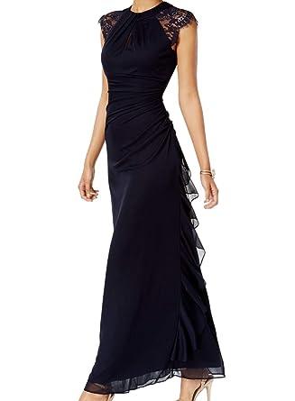 2de8e9400de Betsy   Adam Womens A-Line Special Occasion Evening Dress Navy 6 at Amazon Women s  Clothing store