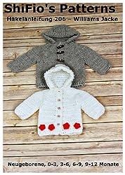 Häkelanleitung - CP206 - Babyjacke für Jungen und Mädchen in 5 Größen