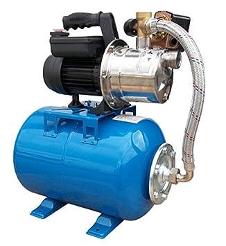 Wasserpumpe 60 l//min 1,1 kW 230V mit Druckschalter und Manometer Jetpumpe Garten