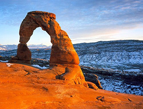 Laminated Poster: Arches National Park Utah Landscape Scenic Sky Clouds Nature Outside Countryside Winter