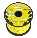 14 GA GAUGE 100 FT SPOOLS PRIMARY AUTO REMOTE POWER GROUND WIRE CABLE