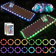 Cornhole Lights for Hole and Board Set with Remote Control, 16 Color Change Cornhole Board Edge and Ring Light