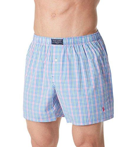 Polo Ralph Lauren Cotton Classic 50's Woven Boxer (L107SR) M/Plaid/Active Pink
