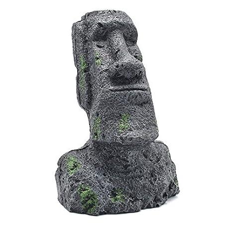 Petacc Decoración para acuario de resina para pecera decoración de roca para acuario, diseño antiguo de retrato romano: Amazon.es: Productos para mascotas