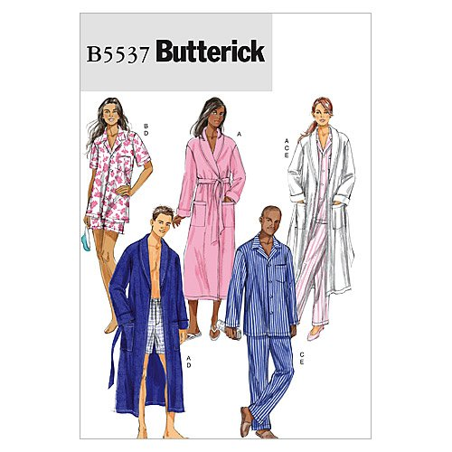 Amazon.com  BUTTERICK PATTERNS B5537 Misses  Men s Robe 45dff955b