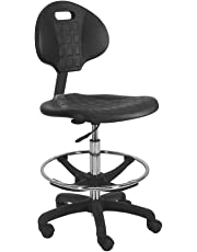 """BenchPro Deluxe Polyurethane Chair with Nylon Base and 20"""" HD Adjustable Footing, 21""""-31"""" Height Adjustment, 450 lbs Capacity."""