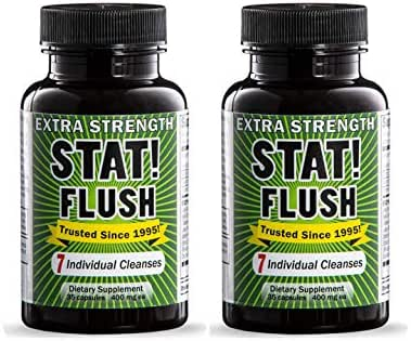 Stat Flush Value Size Emergency Detox - Pass Any Drug Test in 90 Minutes - 7 Full Cleanses (35 Capsules) - Pack of 2