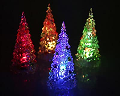 HKBAYI Beautiful Large Acrylic Icy Crystal Color Changing LED Lamp Light For Decoration Christmas Tree XMAS Gift