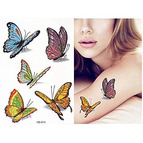 Tatuajes Temporales Brillo De Dibujos Animados Etiqueta Engomada ...
