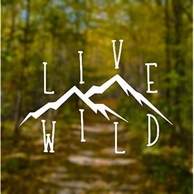 CCI Live Wild Wanderlust Decal Vinyl Sticker|Cars Trucks Vans Walls Laptop| White |5.5 x 4.25 in|CCI891: Automotive