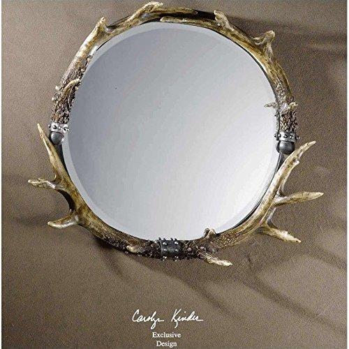 Uttermost Stag Horn Round Mirror (Stag Horn Mirror)