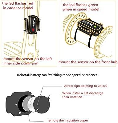 NZNXN - Sensor de Velocidad para Bicicleta (2 en 1, Sensor ...