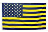Pointview Flags Maize and Blue American Flag - 3 by 5 Foot Flag with Grommets