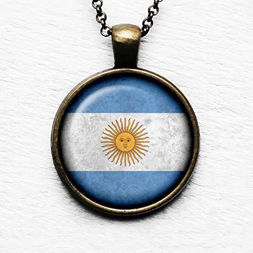 Argentina Argentinian Flag Pendant Necklace